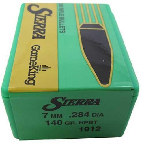Sierra 7mm/284 Caliber 140gr HPBT GameKing /100 1912