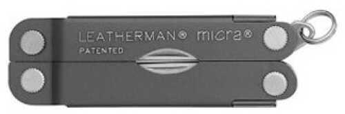 Leatherman Micra Multi-Tool Gray Aluminum Handle, Peg 64380103K