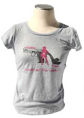 Pistols and Pumps Short Sleeve Bella T-Shirt Deep Heather Large PP100-HG-L