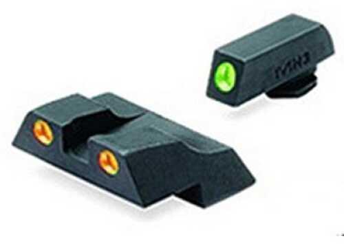 Mako Group Glock - Tru-Dot Sights G26 & 27 Green/Orange Fixed Set ML10226 O