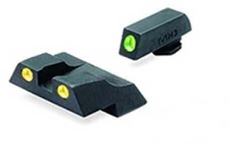Mako Group Glock - Tru-Dot Sights G26 & 27 Green/Yellow Fixed Set ML10226Y