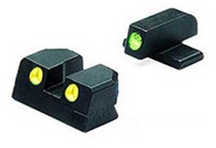 Mako Group Springfield - Tru-Dot Sights XD 9mm & .40 Green/Yellow Set ML11410Y
