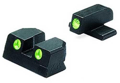 Mako Group Springfield - Tru-Dot Sights XD .45 ACP Green/Green Fixed Set ML11411
