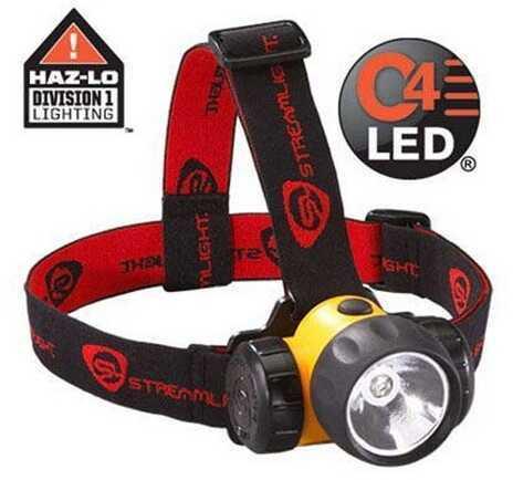 Streamlight 3AA HAZ-LO® w/Batteries Rubber & Elastic Straps, Yellow 61200