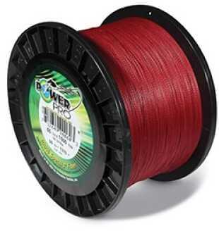 Shimano PowerPro Microfil Line 40 lb, 1500 Yards Vermillion Red 21100401500V
