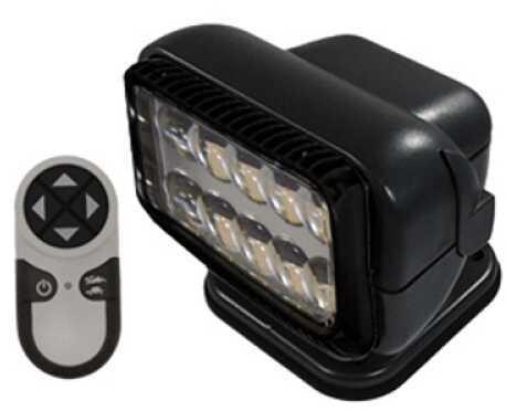 GoLight Permanent Mount Radioray LED w/Remote,Black 20514