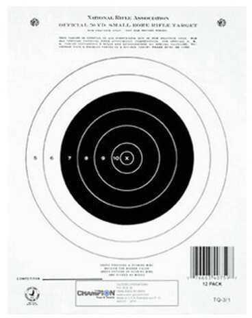 Champion Traps and Targets Champion Gtq3/1 50 Yard Single Bullseye (Per 12) Md: 40759