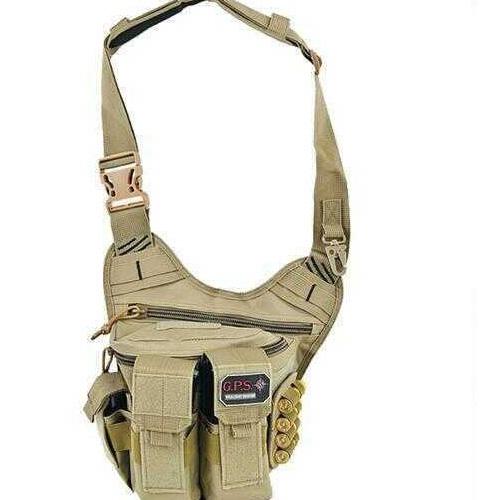"""G Outdoors Inc. G*Outdoors 981RDP Rapid Deployment Pack Tan Range Bag/Messenger Bag 600D Polyester 10"""" x 3"""" x 13"""""""