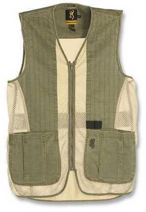 Browning Rhett Mesh Vest Olive/Tan Large 3050297403