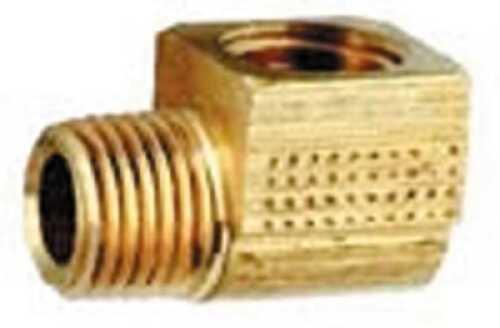 Attwood Fuel Brass Elbow 90-Deg 1/4 Male X 1/4 Female Md#: 8887-6