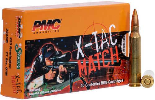 PMC 223XM X-Tac .223 Remington 77 Gr Open Tip Match 20 Box