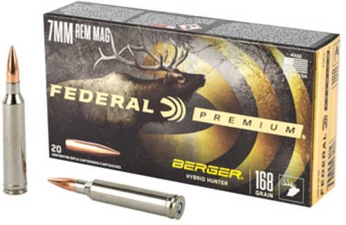 Federal Premium Berger Hybrid Hunter 7mm Rem Mag 168 Gr Berger Hybrid Hunter 20 Box