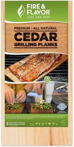 Fire and Flavor Cedar Grilling Plank 11 in. Model: FFPD192