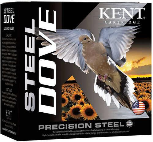 """Kent Cartridge Steel Dove 12 Gauge 2-3/4"""" Shell #6 Shot 1oz Box of 25 Shotshells"""