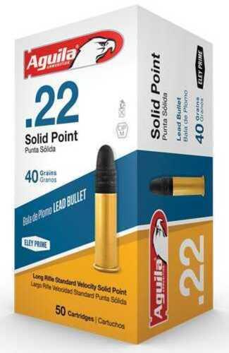 Aguila Standard Velocity 22 Long Rifle 40 Grain Lead Round Nose Ammunition 50 Rounds Per Box Md: 1b222332