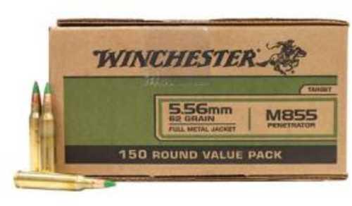 Winchester 5.56 NATO 62 Gr FMJ M855 Penetrator Bulk 150 Rounds WM855150