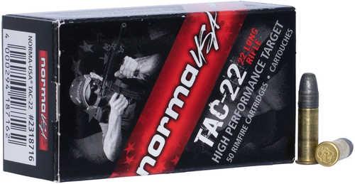 Norma Ammo Tac 22 LR 40 gr Lead Round Nose 50 Round Box