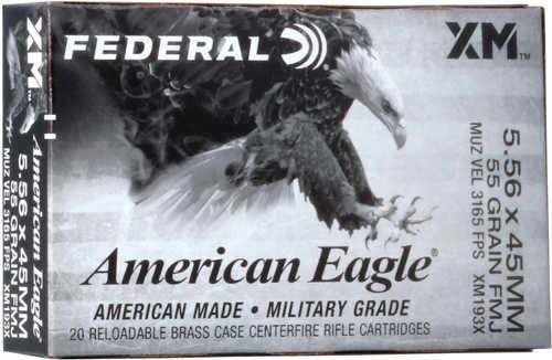 Federal XM193X American Eagle 5.56 NATO 55 gr FMJ 20 Round Box