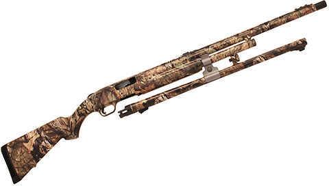 "Mossberg 500 12 Gauge Shotgun 24""Vented Rib Barrel/24"" Fluted Rifle Barrel Mossy Oak Break Up 6 Round"