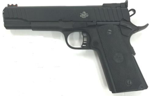Rock Island Armory Semi-Auto Pistol M1911-A1 FS 9MM PKZ/PL 9+1 AS PARKERIZED | Black POLYMER GRIPS 9mm