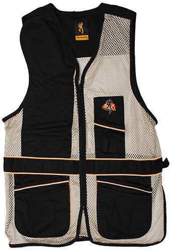 Browning Deluxe Right Hand Vest, Black/Tan Medium 3050179902