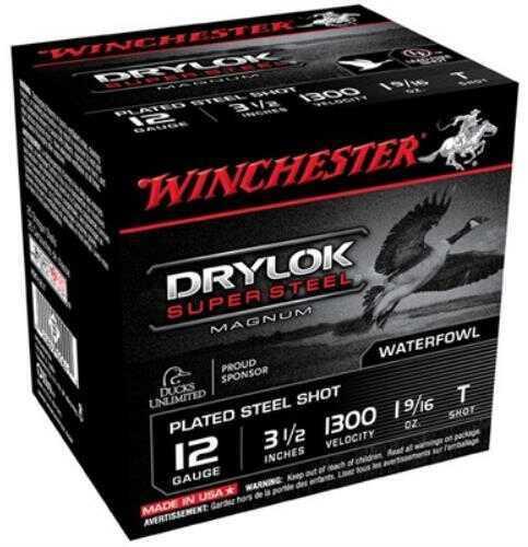 """Winchester Super X Drylok Super Steel Non-Toxic CP Mag 12 Gauge, 3 1/2"""", 1 9/16oz T Shot, (Per 25) XSC12LT"""