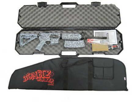 Black Dawn Zombie Slayer AR-15 Rifle 223 Remington Zombie Camo Gray Includes Hard and Soft Case BDR-15MZ