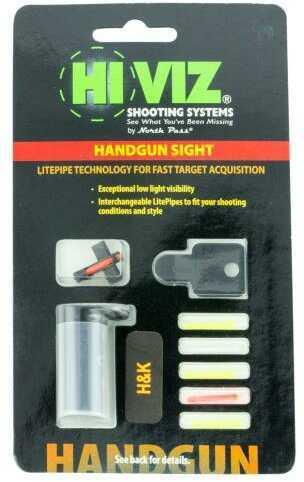 HiViz Sight Systems HIVIZ Front Sight HK USP Full-Size 6.8mm, 6 Interchangeable Lite Pipes Md: HK2008F