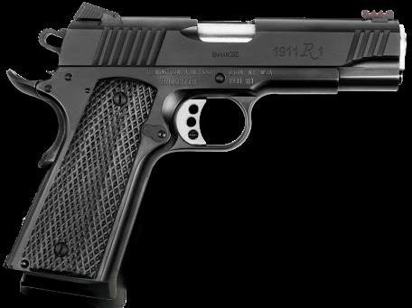 "Remington 1911 R1 Enhanced Commander 45ACP 8 Round 4.25"" Barrel Black Finish Laminated Grip Semi Automatic Pistol"