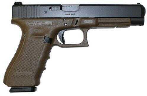 "GLOCK Semi-Auto Pistol G34 G4 Flat Dark Earth 9MM 10+1 5.3 AS THREE 10 Round MAGAZINES 9mm Barrel 5.32"""