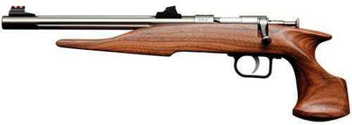 """Crickett KSA 22WMR 10.5"""" Blued Fluted Barrel Walnut Stock Pistol Bolt Action Single Shot 2.5Lbs"""