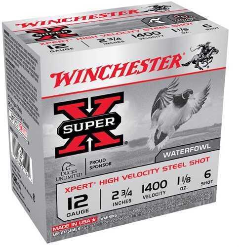 """Winchester XPERT HV Steel 12Ga 2 3/4"""" 1-1/8Oz #6 25 Rds Ammunition WEX12H6"""
