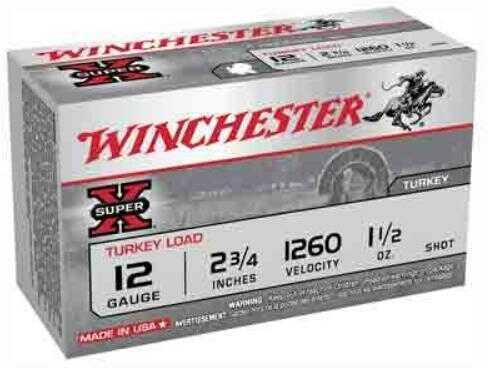 "Winchester Super-X Turkey 12 Gauge #6 2 3/4"" 1.5Oz Copper 10 Rounds Ammunition X12MT6"
