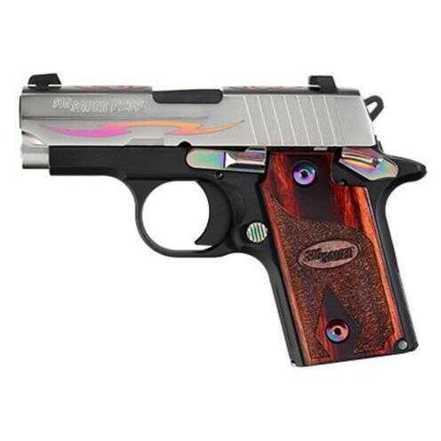 "Sig Sauer P238 380 ACP 2.7"" Barrel 7 Round Stainless Steel Rainbow Tribal Semi Automatic Pistol 238380NSSTRIBALCRG"