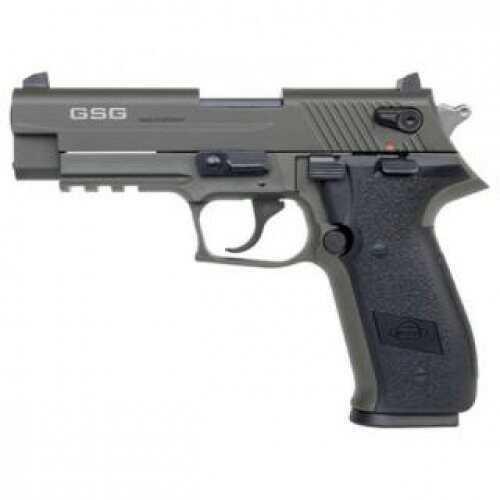 "American Tactical Imports Pistol ATI GSG FIREFLY H Gauge 22LR Adjustable Rear Sight 4"" Threaded Barrel Green 10 Round"