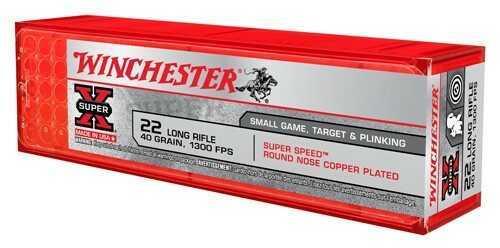 Winchester Ammunition Super Speed 22LR 40 Grain Plated Round Nose 100 Round Box X22LRSS1
