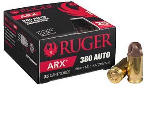 Ruger 380 Auto 56Gr ARX Self Defense Ammo 250/ Case