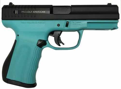 "FMK Firearms FMKG9C1G2ETB Pistol 9mm 4"" Barrel 14 Rounds Robin Egg Blue"