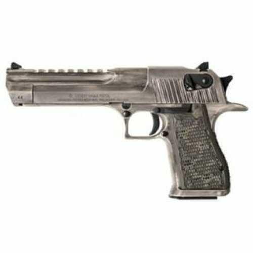 "Magnum Research Desert Eagle Pistol 44 Mag 6"" Barrel 8 Rounds White Distressed Cerakote"