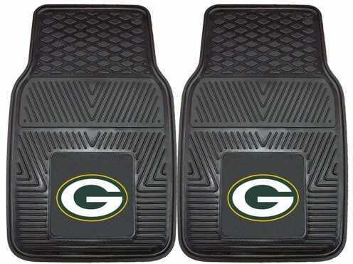 Fanmats 2 Piece Vinyl Car Mat Set Nfl - Green Bay Packers