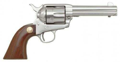 """Cimarron 1873 SAA 357 Magnum Stainless Steel Frontier Revolver 4.75"""" Barrel Stainless Steel Finish Walnut Grip Pre-War Frame Pistol MP4503"""