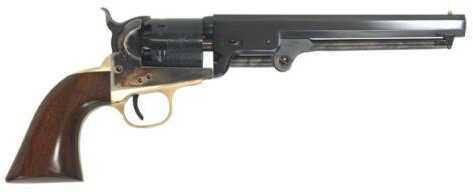 "Cimarron 1851 Navy Oval Percussion Revolver 36 Cal 7.5"" Barrel Case Hardened Walnut Grip Standard Blue Finish CA000"