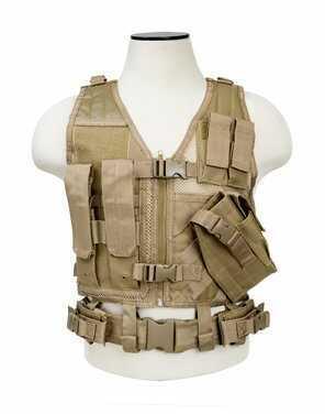 NcStar Tactical Vest Tan, Large CTVL2916T