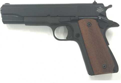 "Rock Island Armory M1911-A1 GI 45ACP Single Action Fixed Sight G.I. Version 5"" Barrel Full Checkered Wood Grip Semi Automatic Pistol"