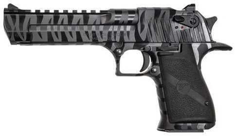 "Magnum Research Desert Eagle 44 Magnum Black Tiger Stripe 6'""Barrel 8 Round Semi Automatic Pistol"