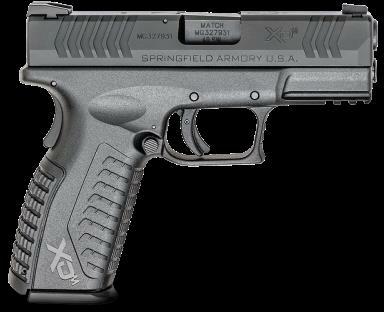 "Pistol Springfield Armory XD(m) 40 S&W 16rd 3.8"" Barrel Black Finish Black Frame"