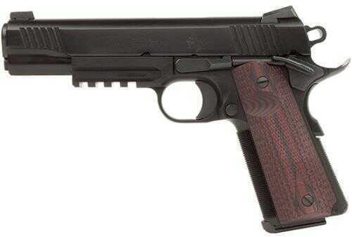 """Pistol Colt Custom Shop Rail Gun .45 ACP 5"""" Barrel 8 Rounds G10 Grips Black Cherry Color"""