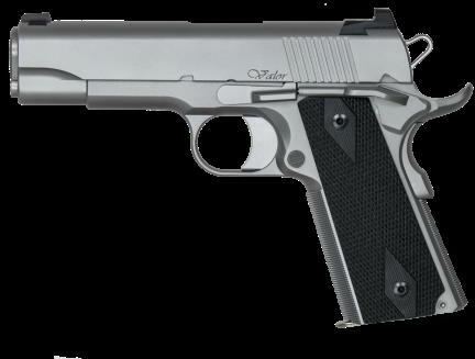 "CZ USA Dan Wesson Valor Commander 45ACP 4.25"" Barrel Matte Stainless Steel Glass Bead Frame Tactical Ledge Tritium Sights 8-Round Semi Automatic Pistol"