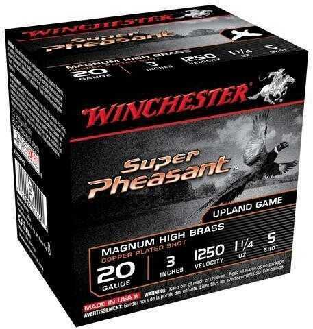 "Winchester Super-X 20 Gauge 3"" 1.25 Pheasant #5 25 Rounds Ammunition X203PH5"