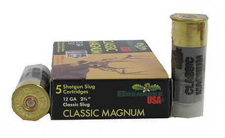"""Brenneke Classic Magnum 12 Gauge, 2 3/4"""" (Per 5) SL-122CLM-1201820"""